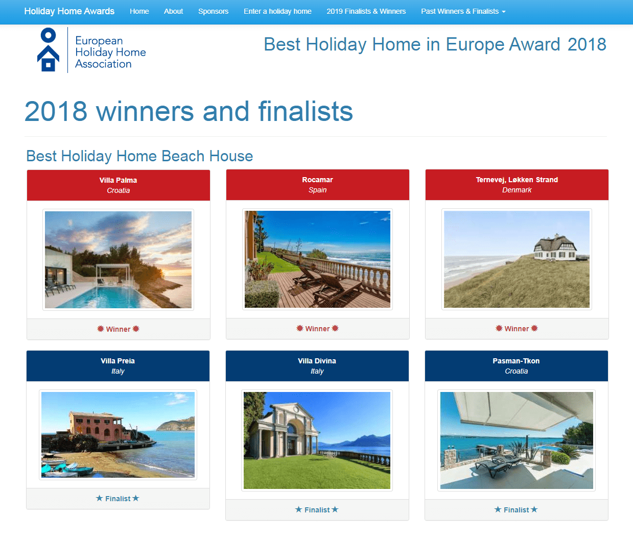 Best Holiday Home Beach House 2018