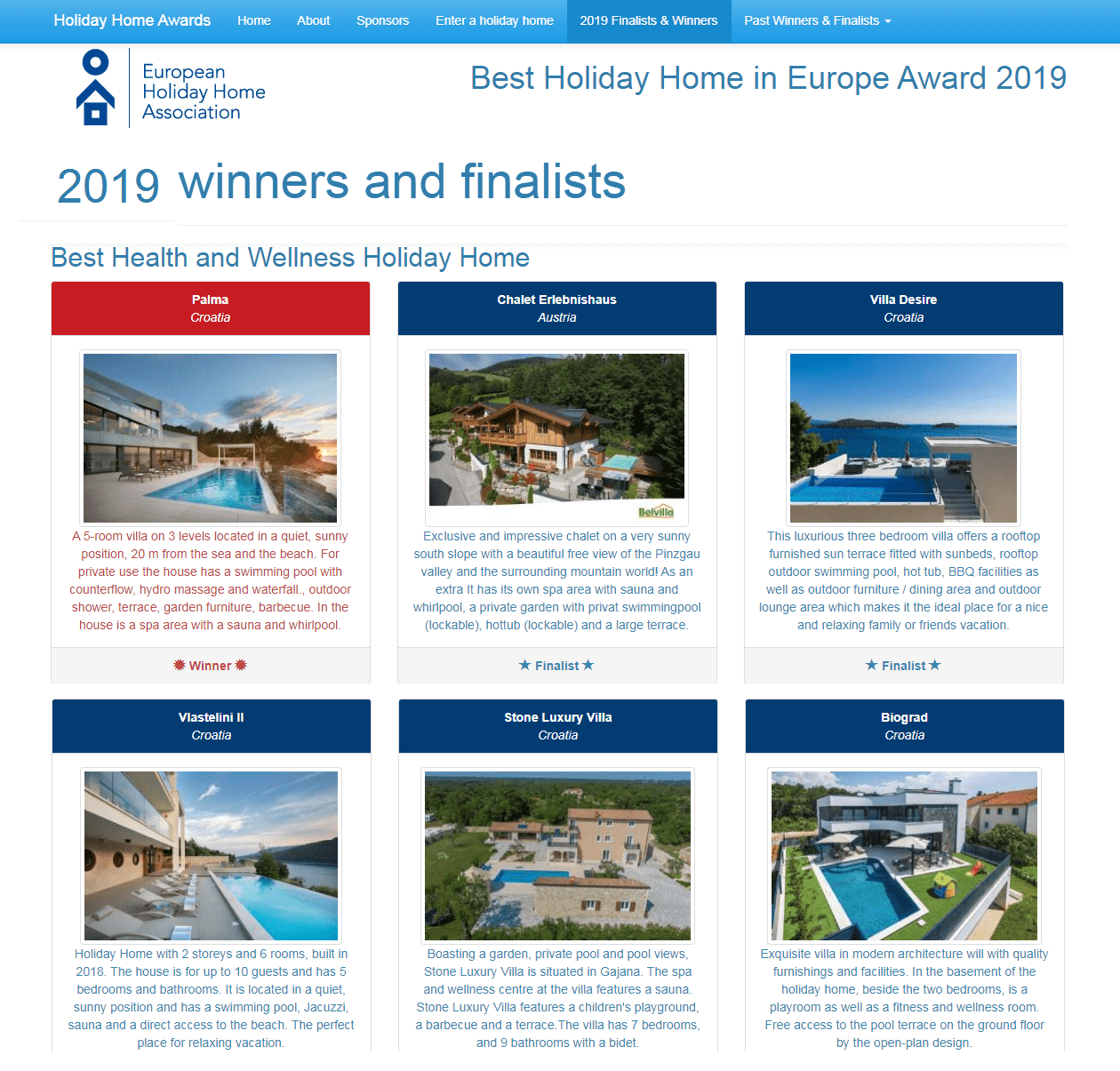 Best Health and Wellness Holiday Home 2019